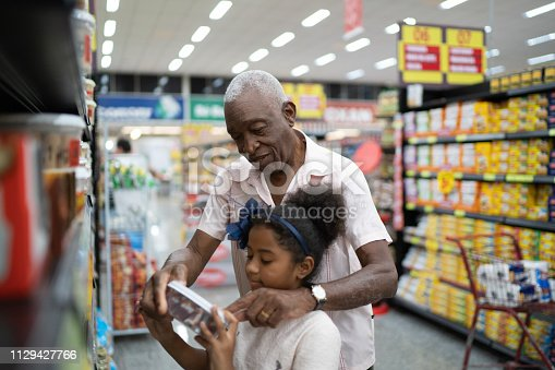 Family on Supermarket