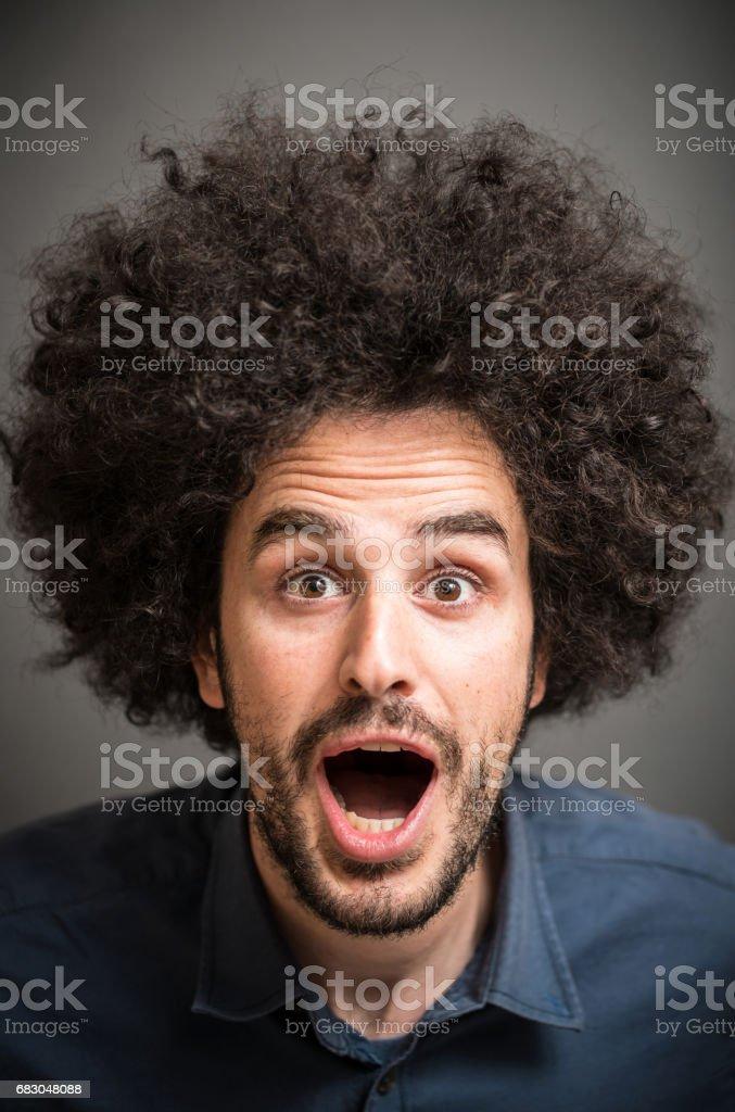 Afro Hair Man foto de stock royalty-free