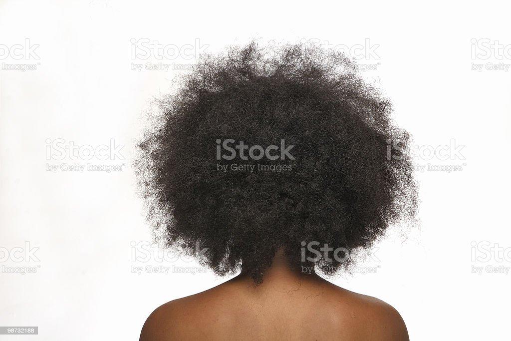 afro hair stock photo