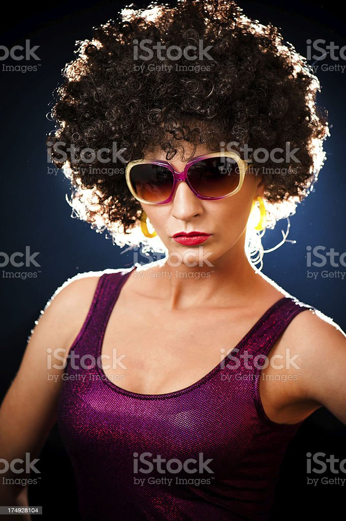 afro hairstyle royalty-free stock photo