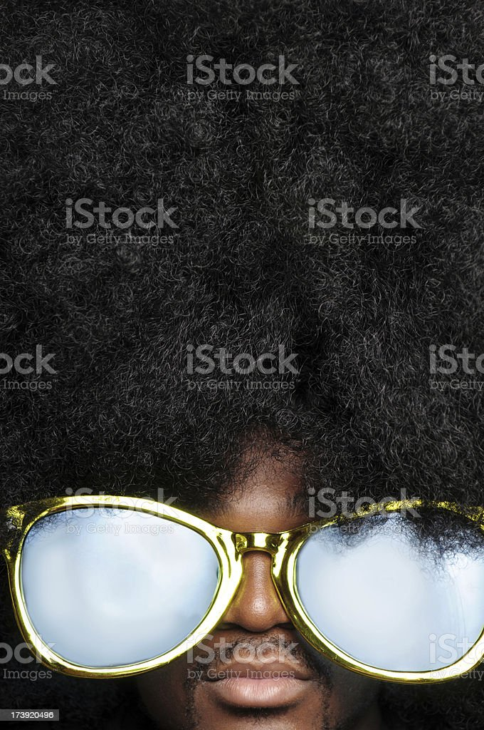 Afro Man with Sunglasses royalty-free stock photo