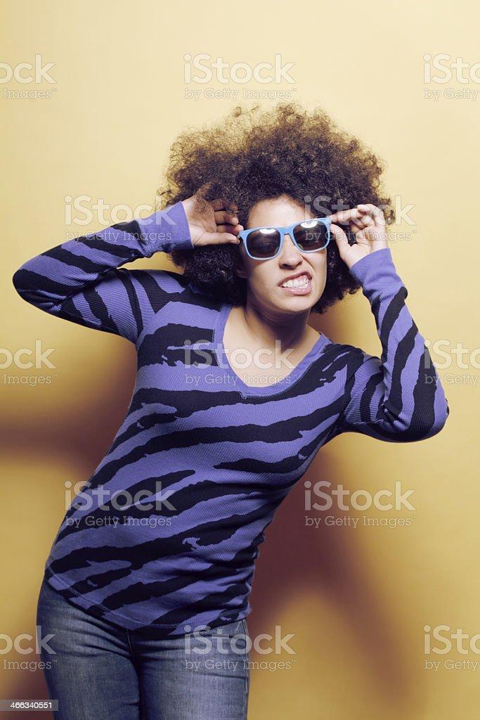 Afro woman stock photo