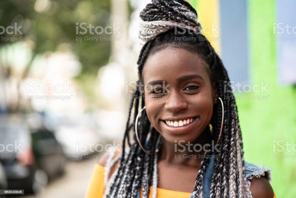 Afro Woman Portrait stock photo