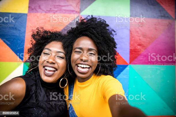 Afro women descent taking selfie photos in the park picture id898695654?b=1&k=6&m=898695654&s=612x612&h=bobyuxkwuzoni mx6hbobdghec4ulqbhjkgxt4jlajs=