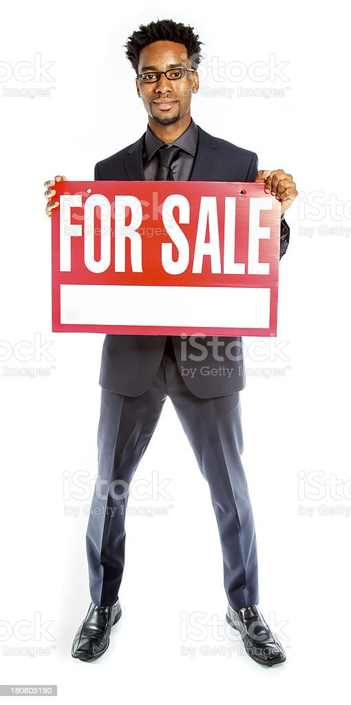 Afro-American businessman shot in studio royalty-free stock photo