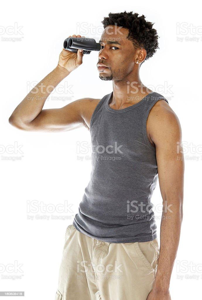 Afro-American man shot in studio royalty-free stock photo