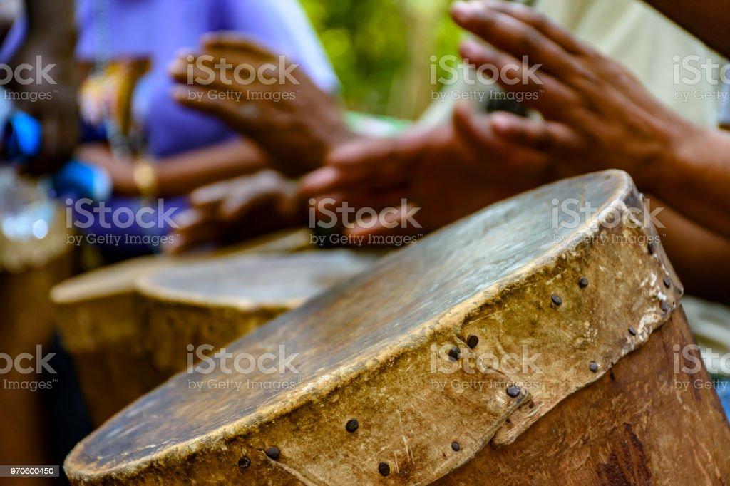 Afro-brazilian cultural manifestation stock photo