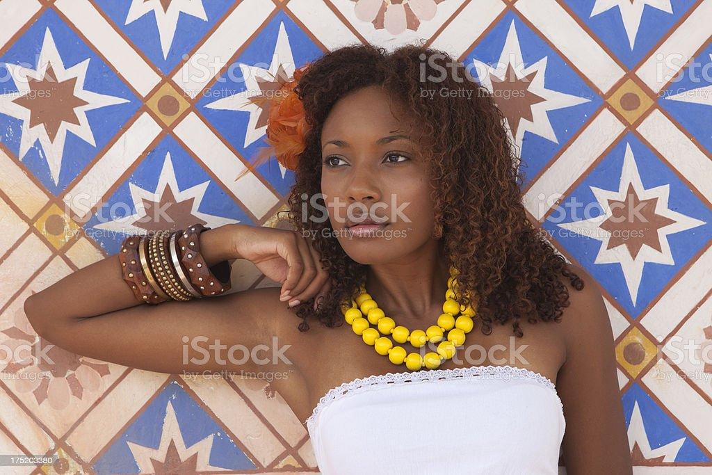 Afro-Caribbean Beauty stock photo