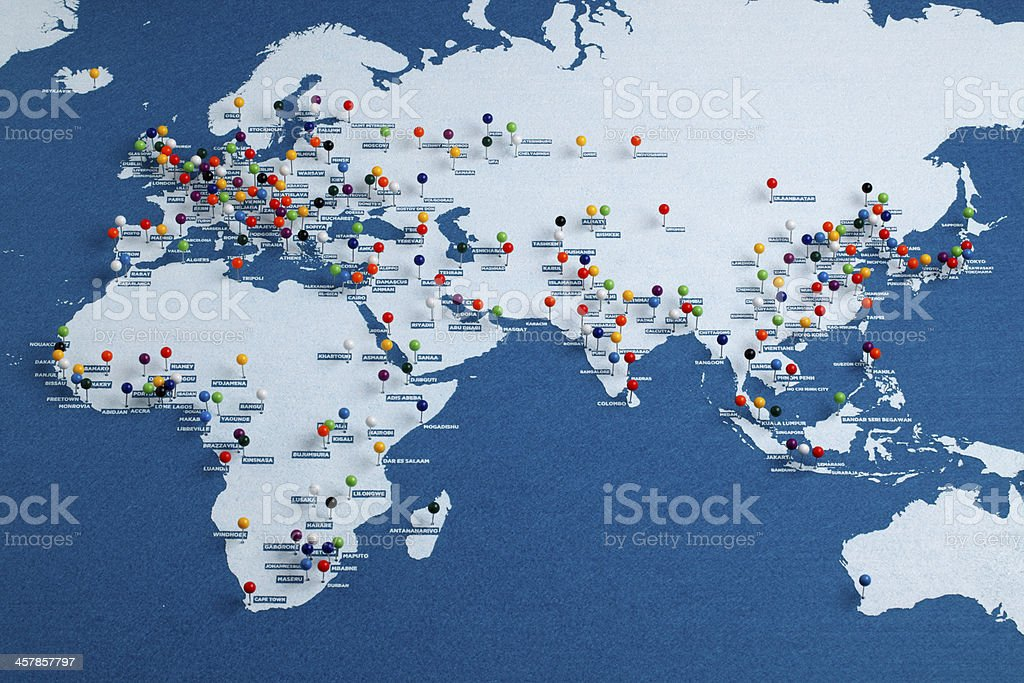 Picture of: Afroeurasia Major Cities Map Stock Photo Download Image Now Istock