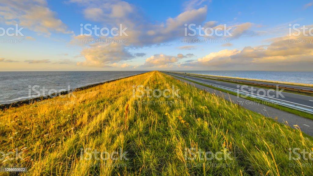 Afsluitdijk Nederlandse Dijk foto