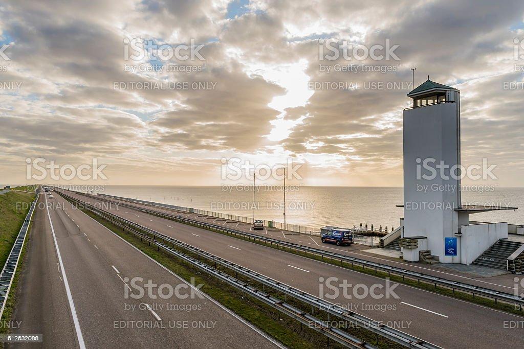 Afsluitdijk with Sunrise foto
