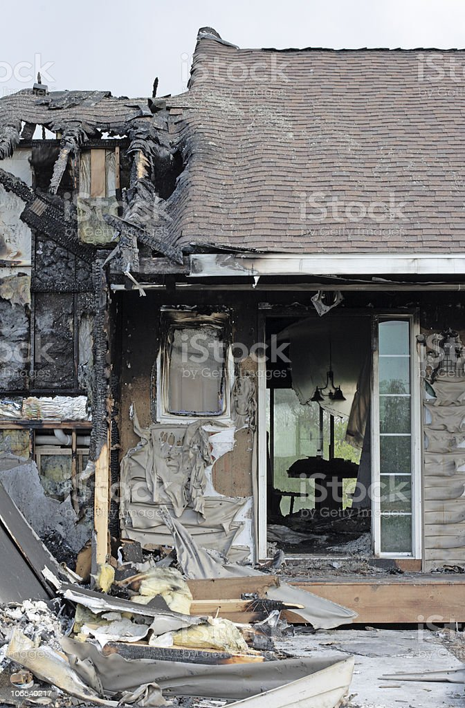 After a fire royalty-free stock photo