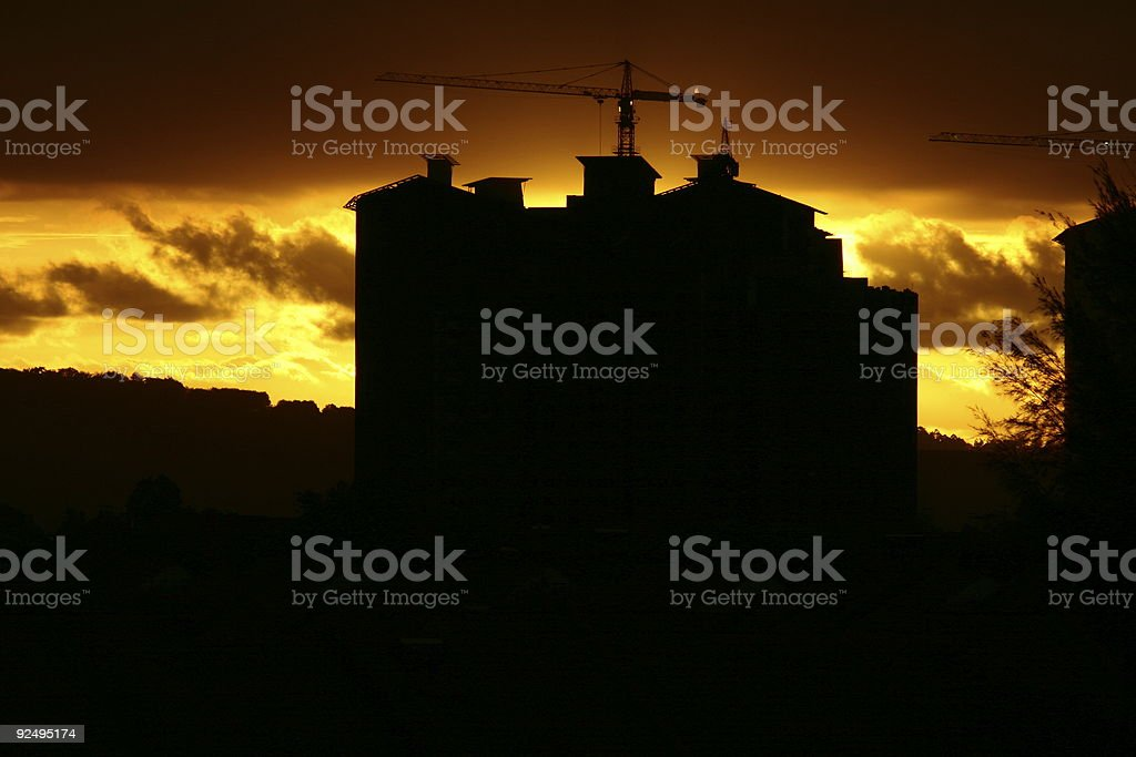 After a long day royalty-free stock photo