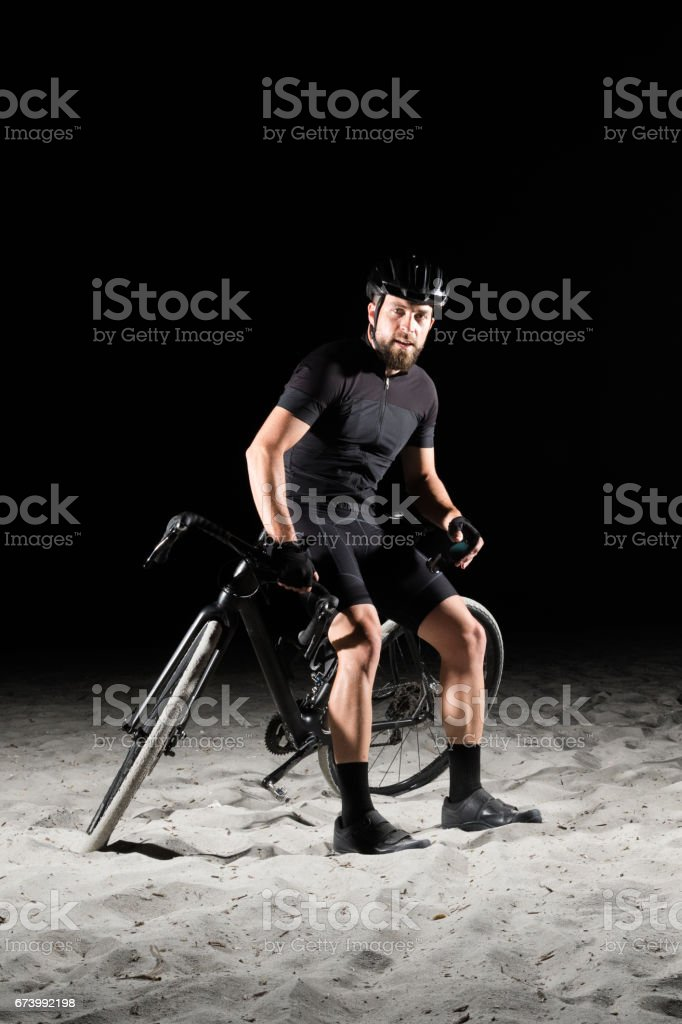 After a long ride royalty-free stock photo
