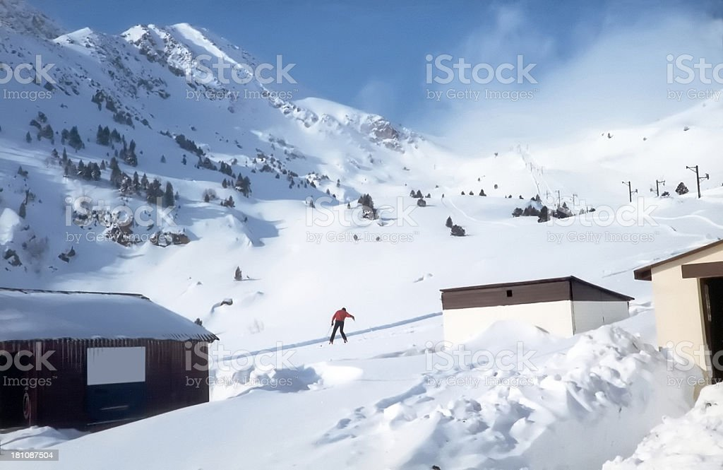 After an avalanche royalty-free stock photo