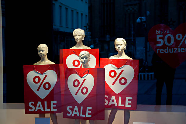 After Christmas Sale in Munich, Germany stock photo