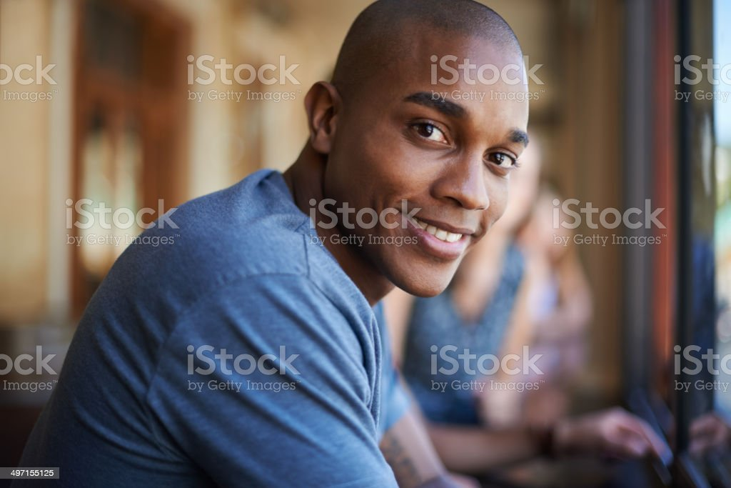 After college hangout spot stock photo