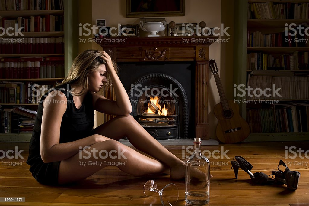 After Drunk.Color Image royalty-free stock photo