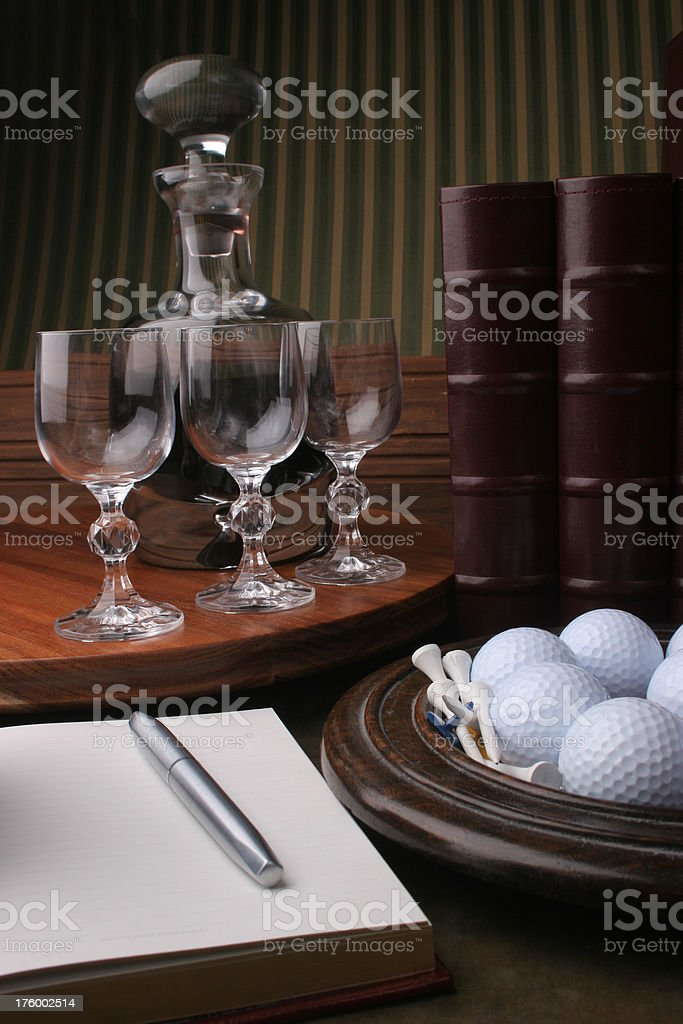 after golf - recording the day royalty-free stock photo