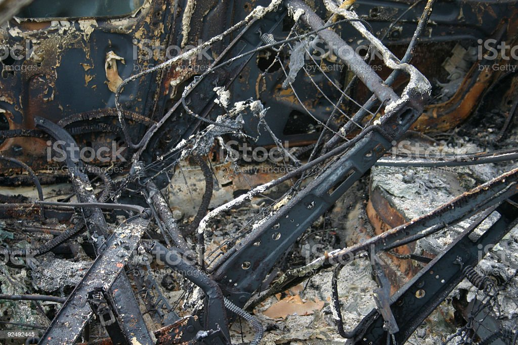 After Interior fire royalty-free stock photo