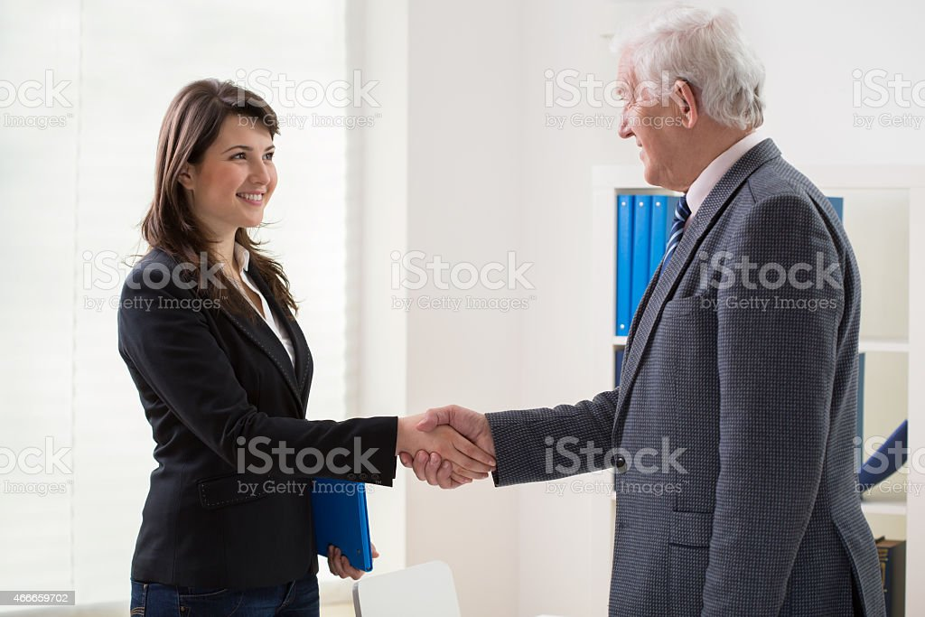 After interview stock photo