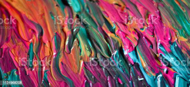 Photo of after mixing the colors ready to paint a work of art