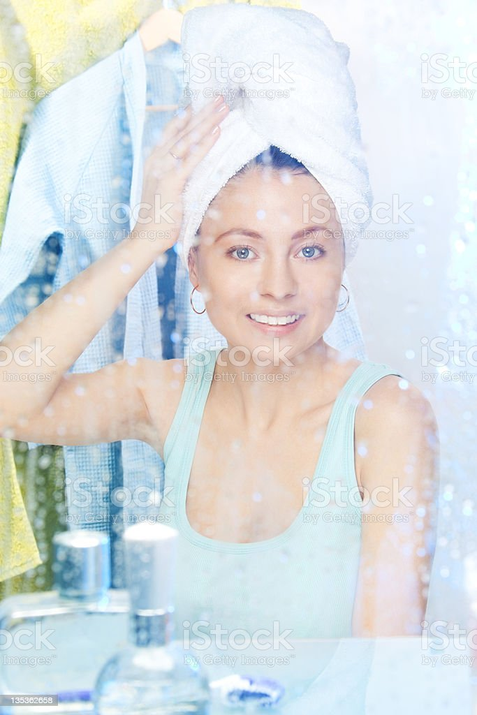 After morning shower royalty-free stock photo