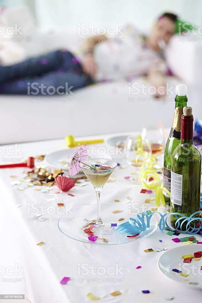 After party mess stock photo