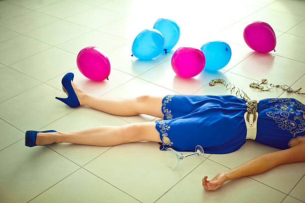 after party - drunk stock photos and pictures
