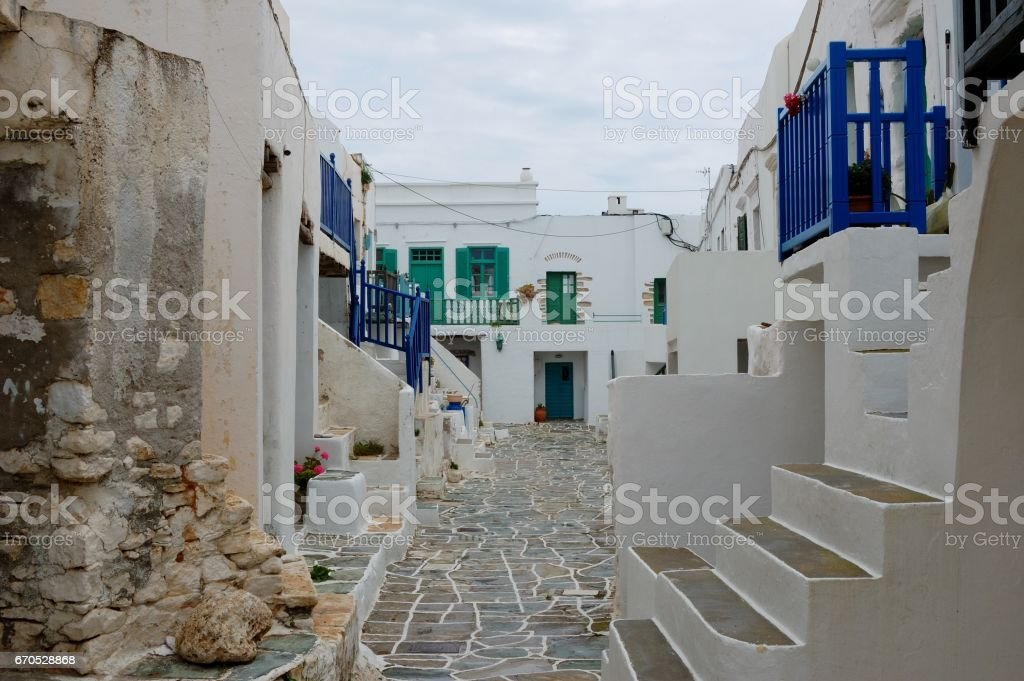 After rain on the island of Folegandros stock photo