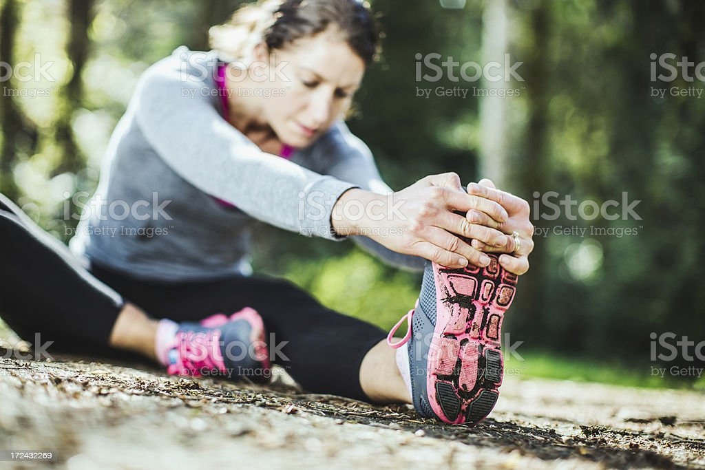 After Run Stretch royalty-free stock photo