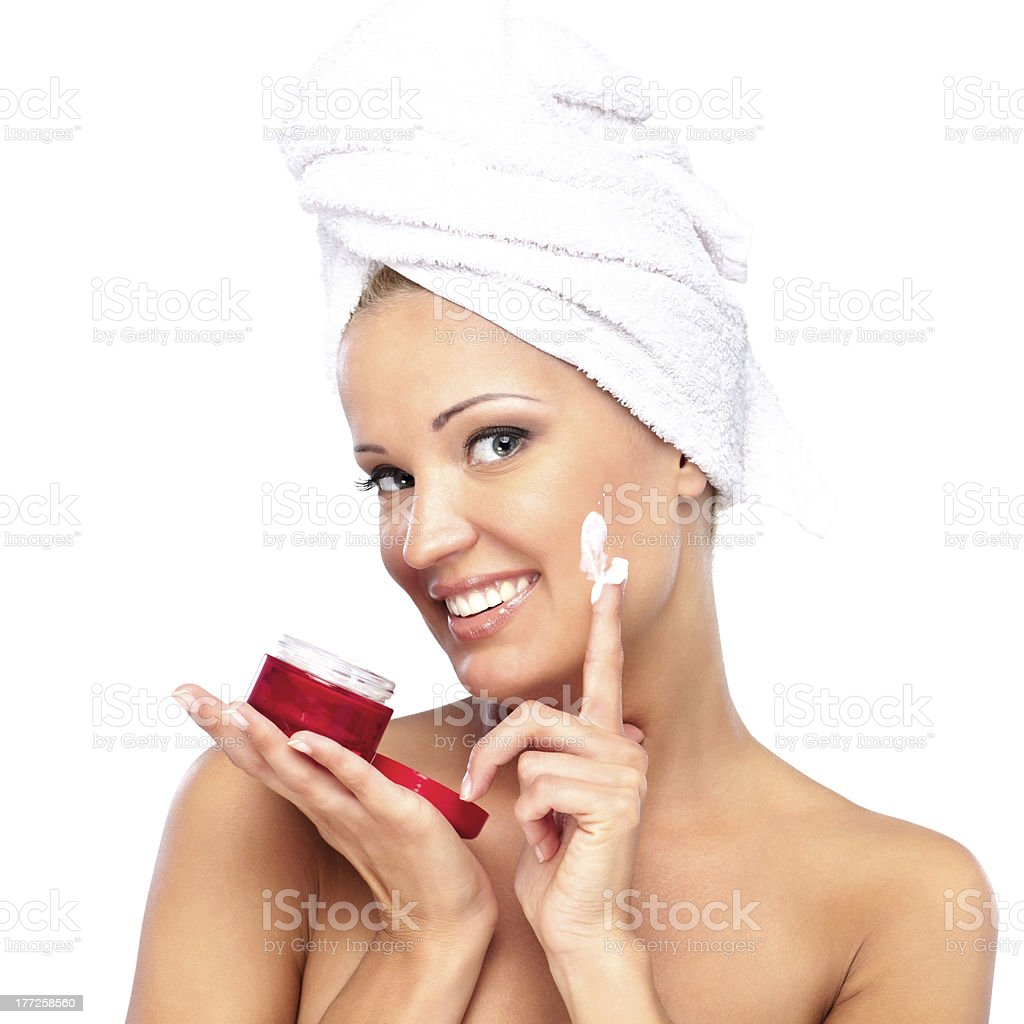 After shower royalty-free stock photo