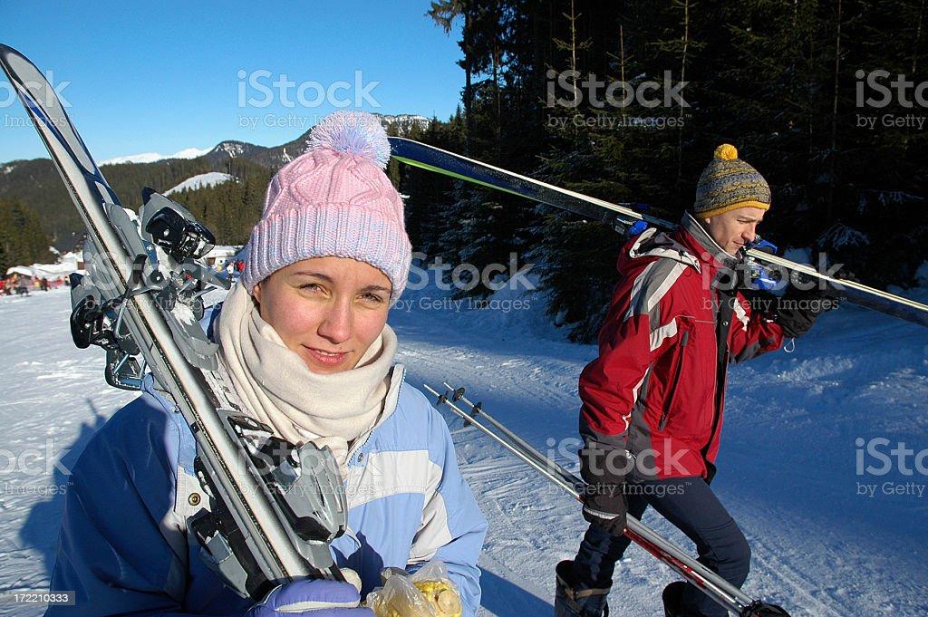 after skiing royalty-free stock photo