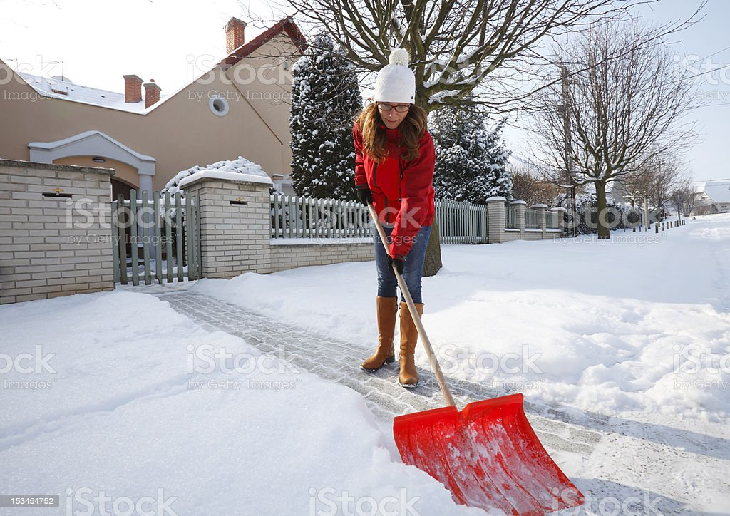 After Snowing stock photo