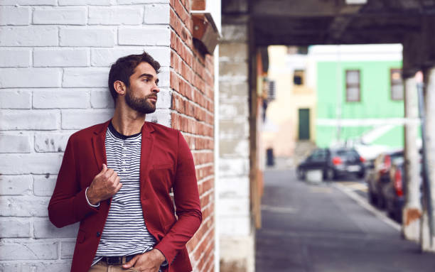 after some time you become part of the city - menswear stock photos and pictures