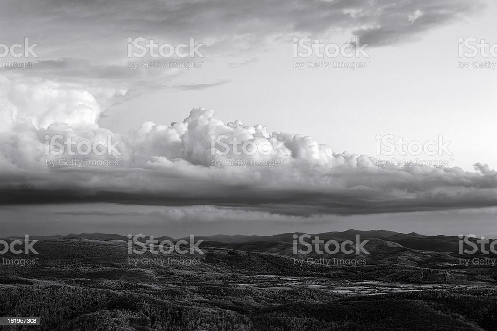After storm infrared sunset on the Karst hilltop royalty-free stock photo