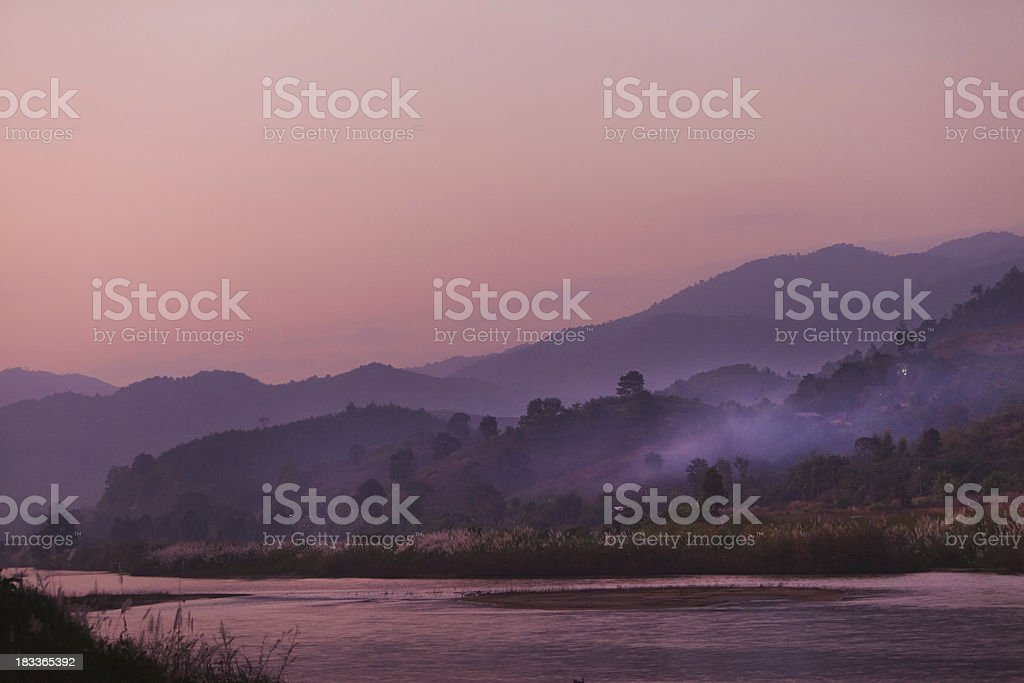 After Sunset in the North of Thailand royalty-free stock photo