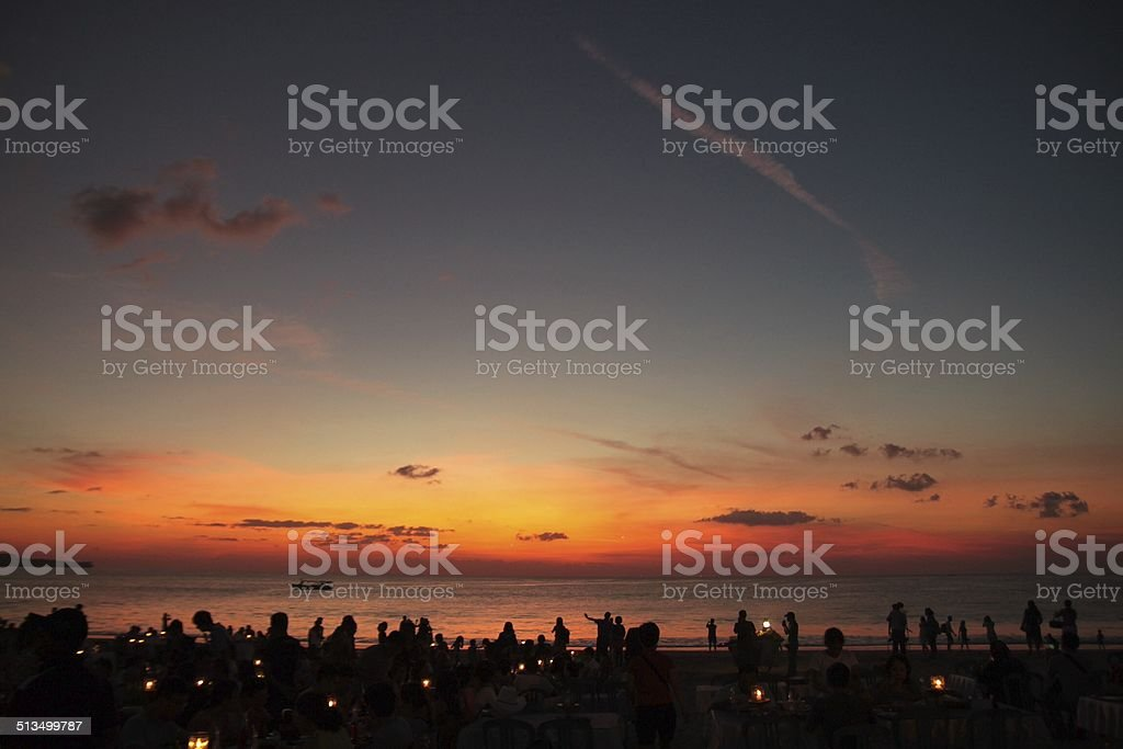 After sunset stock photo