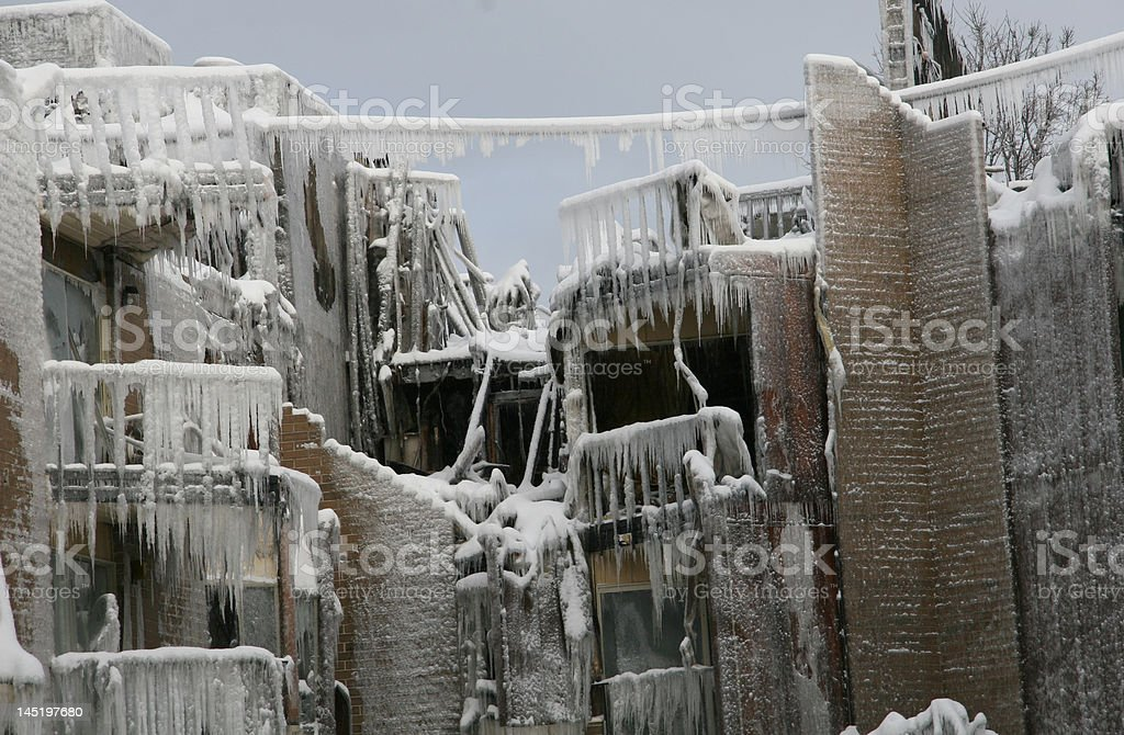 After the fire royalty-free stock photo