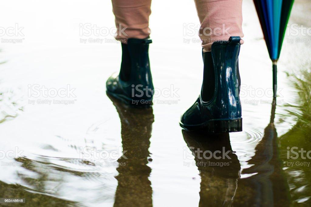 Yağmur sonrası - Royalty-free Ayakkabı Stok görsel