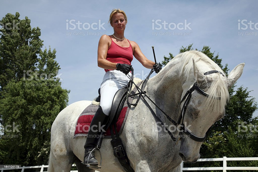After the riding royalty-free stock photo