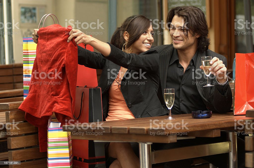 After the Shopping Spree royalty-free stock photo