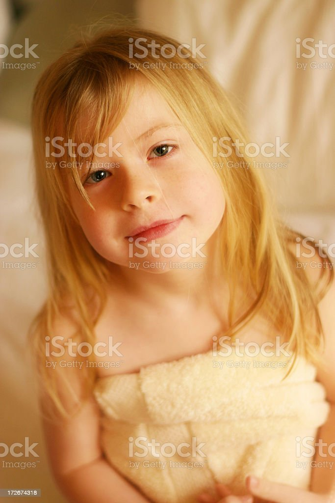 After the Shower royalty-free stock photo