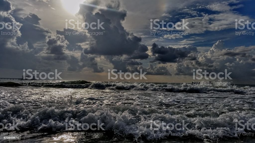After the storm the sun always appears stock photo