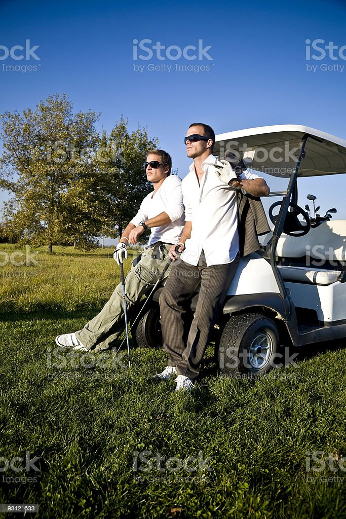 after work golf royalty-free stock photo