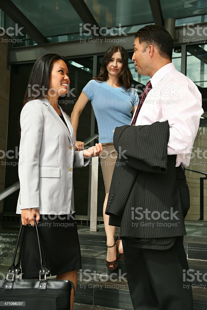 After Work Gossip royalty-free stock photo