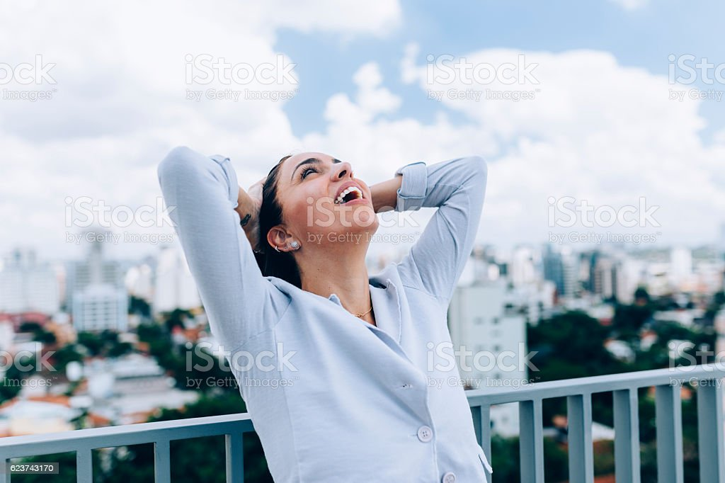 After work relief stock photo