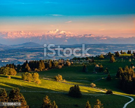 istock afterglow over the swiss alps 1215984213