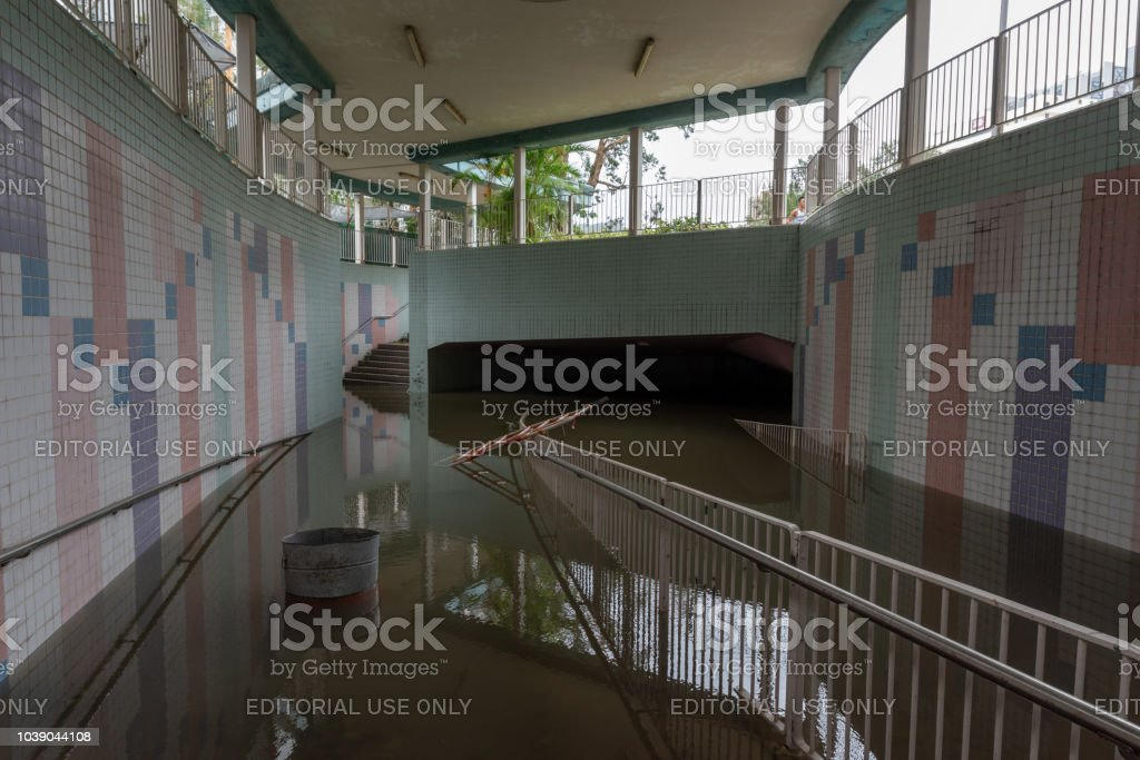 Aftermatch of Super Typhoon Mangkhut stock photo