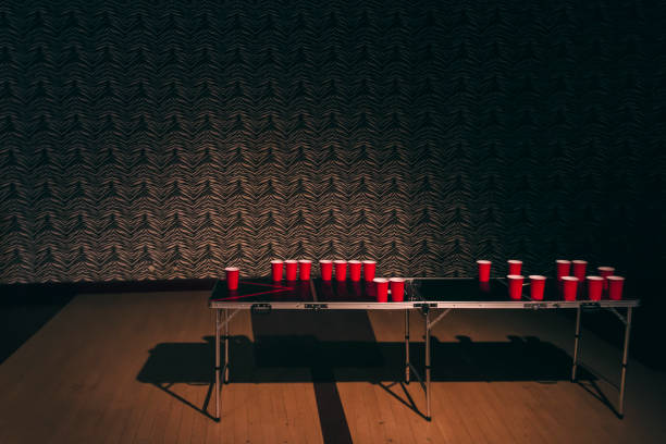 aftermath of beer pong - stag night stock pictures, royalty-free photos & images